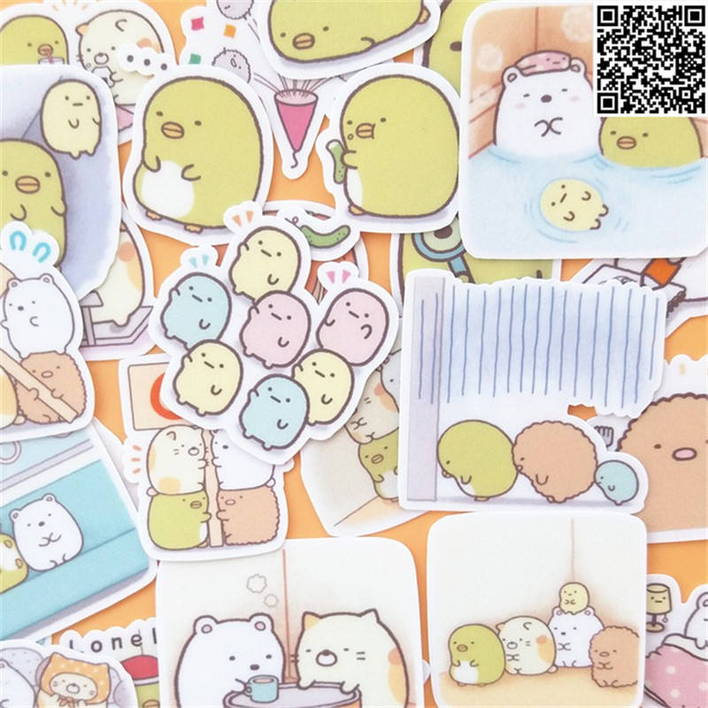 30 Pcs  Corner Biodynamics Sticker For Luggage Skateboard Phone Laptop Moto Bicycle Wall Guitar/Eason Stickers/DIY Scrapbooking