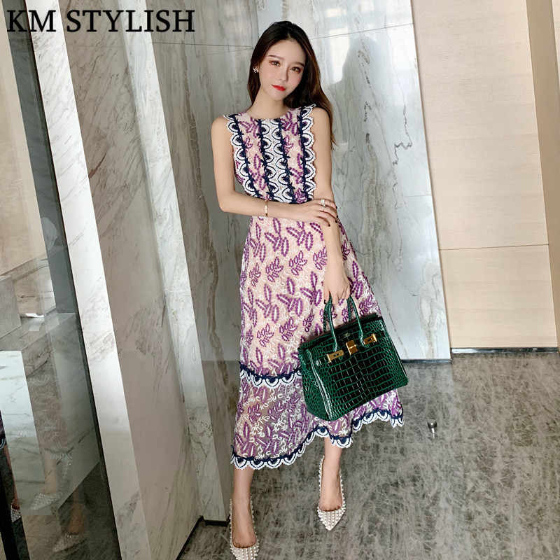 Thai Tide Brand 2019 Early Spring New Exquisite Flower Embroidery French  Elegant Round Neck Lace High d4550c25e88f