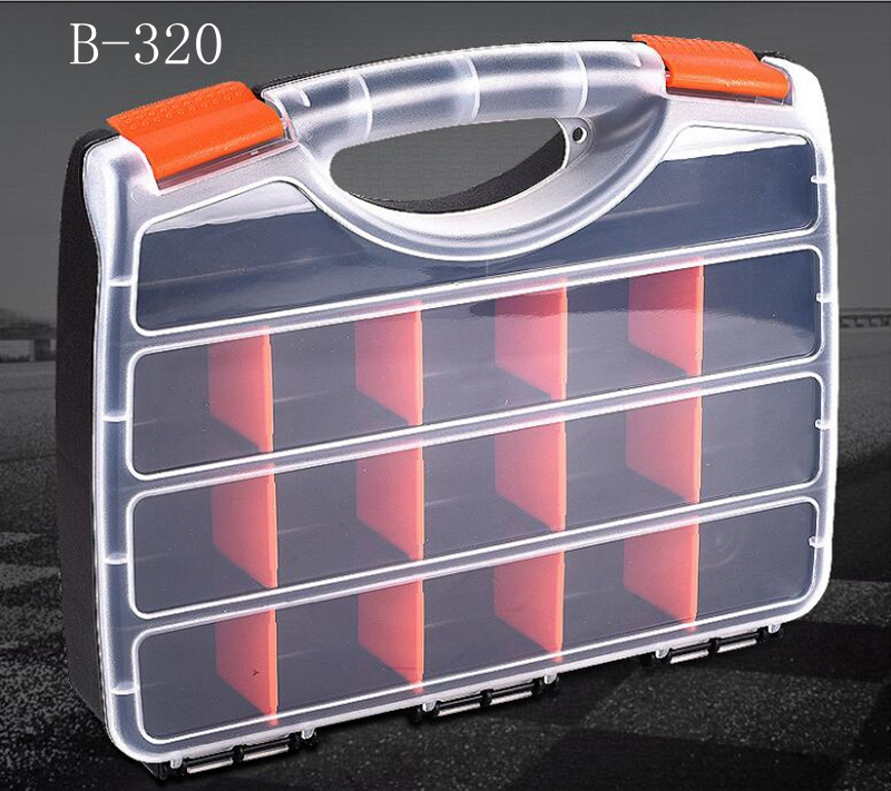 Hand-held Plastic Tool Parts Box  Packaging Box Portable Practical Electronic Components Screw Removable Storage Screw New