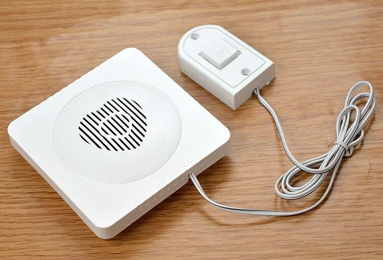 Купить с кэшбэком Wire Electronic DoorBell 90cm Household electronic doorbell with line doorbell call for elderly