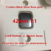 2019 SmartWatch 42mm 1:1 IWO 7 Heart Rate Rose black silver Smart watch IWO 5 6 upgraded matte alloy case 8 clocks For iphone