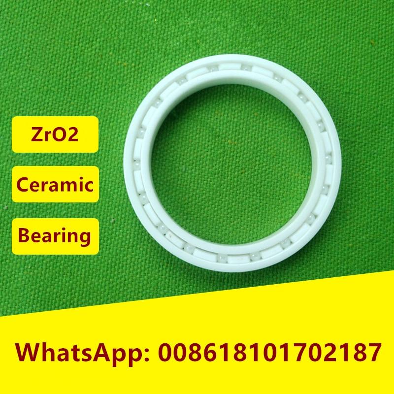 ФОТО 4pcs/lot  6809 ZrO2 full Ceramic bearing 45x58x7  mm Zirconia Ceramic deep groove ball bearings  45*58*7