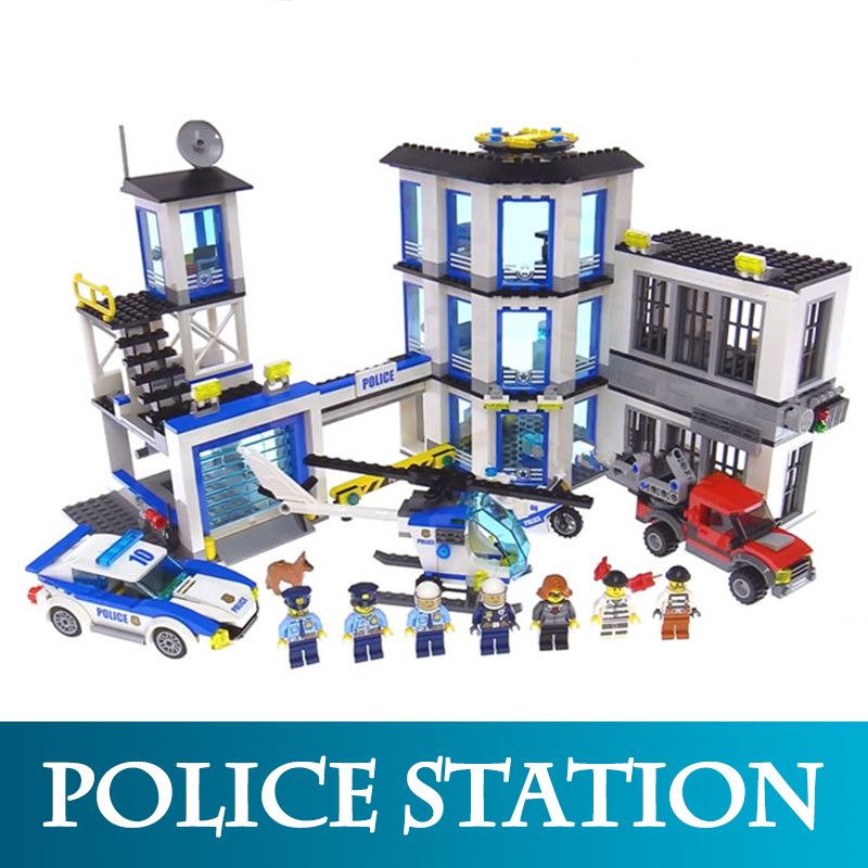 City Series 02020 965pcs The New Police Station Model Building Blocks Compatible LegoINGLYS 60141 Bricks Toys Gift For Boy [bainily]256pcs police station building blocks bricks educational toys birthday gift toy for boy compatible with legoinglys city