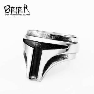 BEIER Jewelry Movie-Product Ring-Punk-Rock Stainless-Steel Cool Star War Personality