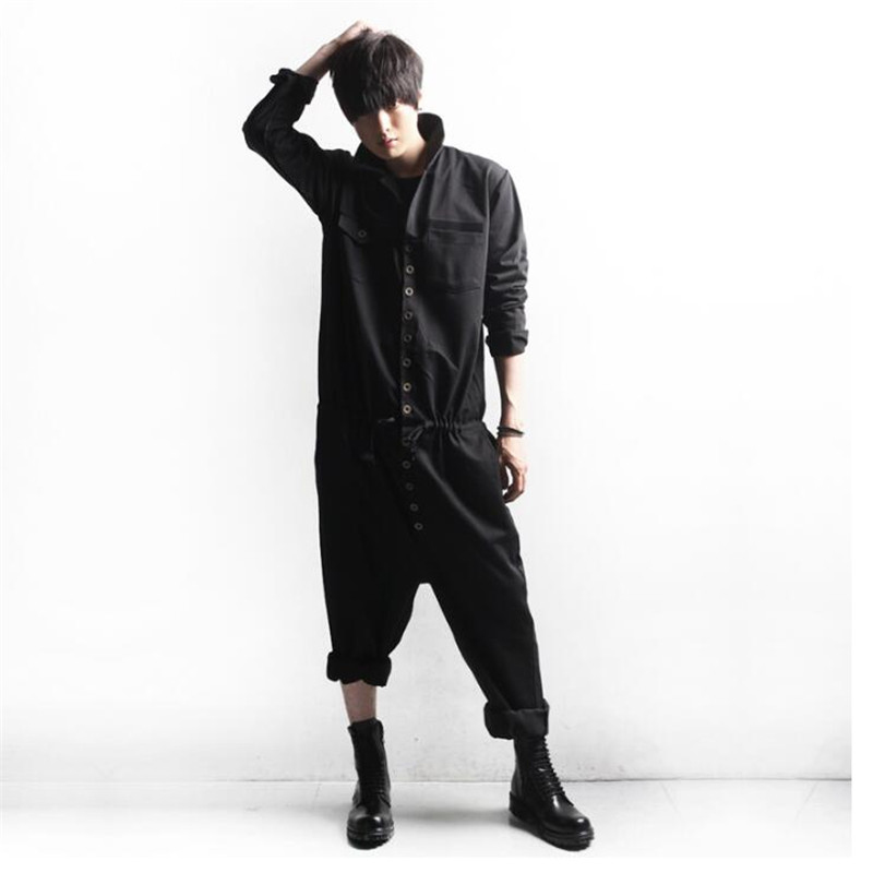 Supply 2019 New Men Sets Long Jumpsuit Campus Rompers Demountable Slim-fitting Hip Hop Young Jumpsuits Onesies Overalls Union Suit Men's Clothing
