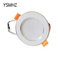 YSMHZ LED 2 5inch Downlight Round 3W 5W 7W 9W 12W 15W 18W Model Lamp Panel