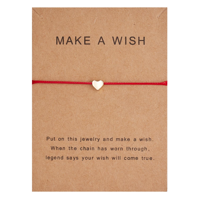 10*7.5cm zrób życzenie Papper Card Love tkana regulowana bransoletka modna biżuteria na prezent dla kobiet, mężczyzn, dzieci 1