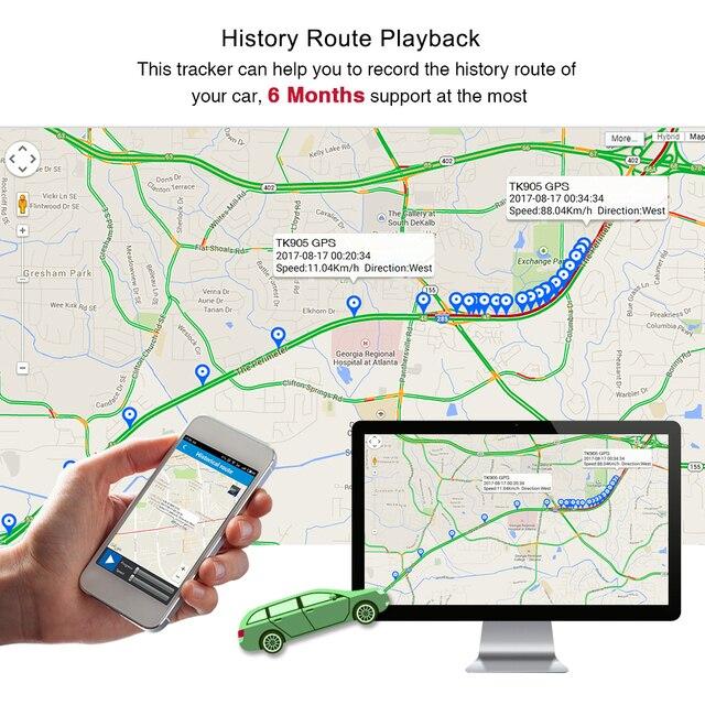 GPS Tracker voiture TKSTAR TK905 5000mAh 90 jours en veille 2G traqueur de véhicule GPS localisateur étanche aimant moniteur vocal application Web gratuite 4
