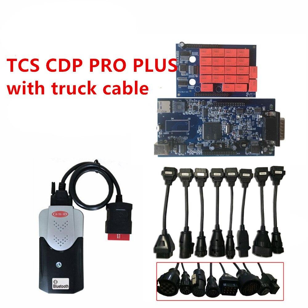 2018 dernière 2016r0 logiciel TCS CDP PRO PLUS avec/aucun Bluetooth + camion câble obd obd2 2015r3/2014r2 multidiag pro outil de diagnostic