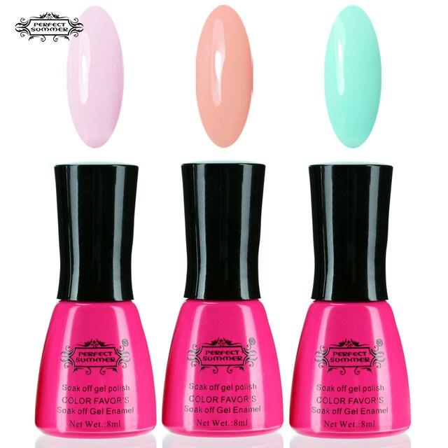 Perfect Summer Color UV Gel Polish Nail Gel 3 pcs/lot Soak off Long ...