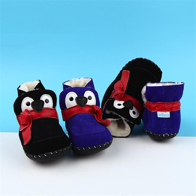 Primer Caminante del bebé Zapatos de Invierno Recién Nacidos Botines Niñas Luz Hogar Cálido Calzado Infantil Botines Bebé Nieve Zapatos 60A1006