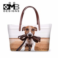 Latest Designer Women Handbags Animal Dog 3D Pattern Large Tote Bags For Ladies Stylish Shoulder Hand