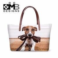 Latest Designer Women Handbags Animal Dog 3D Pattern Large Tote Bags For Ladies Stylish Shoulder Hand