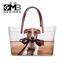 Latest  Designer Women Handbags Animal Dog 3D pattern Large Tote Bags for Ladies Stylish Shoulder Hand Bags Girls evening bag недорого