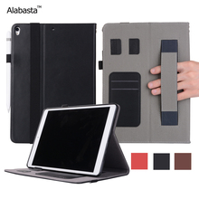 Alabasta For iPad 2017 case 9.7 inch 2017 Release Genuine Leather Surface +Silicone Cover Flip Stand Safe Stand Case With stylus