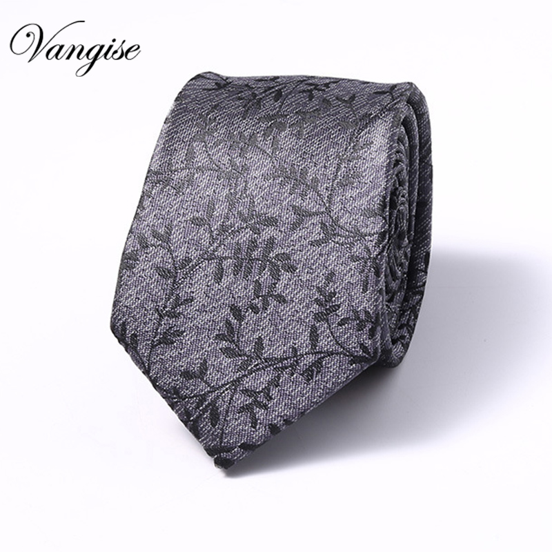 Men Jacquard Silk  Leisure Striped Ties Fashion Skinny Narrow Slim Neck Ties For Men Skinny Woven Designer Cravat 6cm