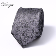 Men Jacquard Silk  Leisure Striped Ties Fashion Skinny Narrow Slim Neck For Woven Designer Cravat 6cm