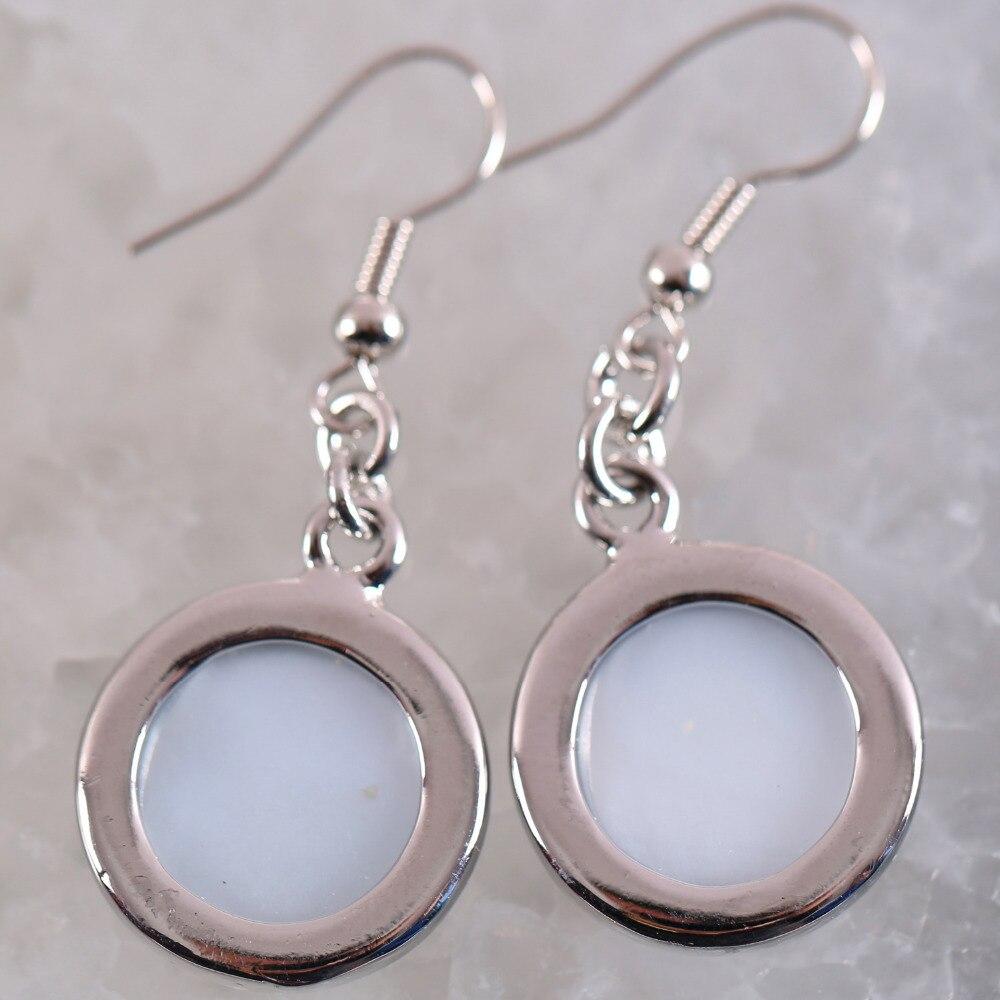 Oeil de Tigre Cabochon Rond 925 Sterling Silver Wire Dos Boucles D/'oreilles