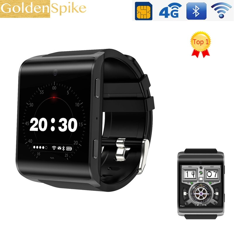 DM2018 4G Smart Watch MTK6737 Quad Core 1GB Ram 16GB Rom Android 6.0 Wristwatch 900mAh 2.0 pm Camera Heart Rate GPS watch men цена 2017