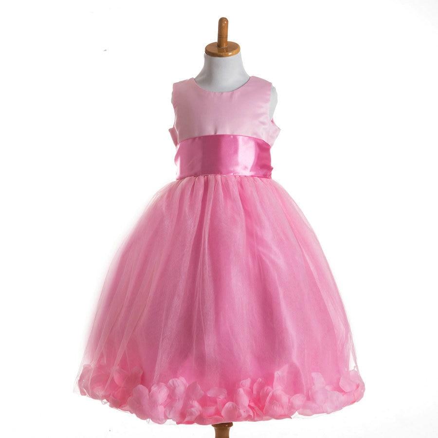 Pink And White Wedding Gowns: T062 2017 Newest Summer Cute Children Wedding Gowns Kids