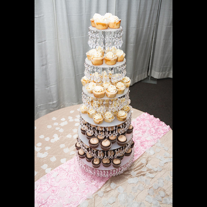 7 Tier Acrylic Cupcake Tower Stand-3