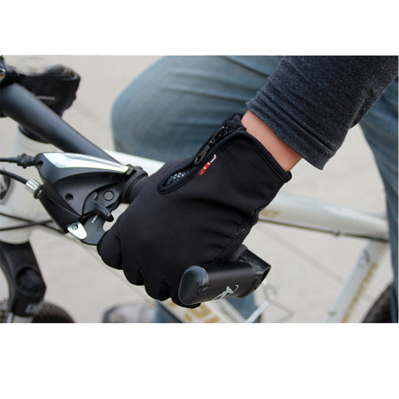 S/M/L Size Unisex Black Touch Screen Windproof Warm Gloves Outdoor Cycling Skiing Hiking Outdoor Gloves
