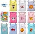 ( 5 unids/lote ) 100% bebé ropa interior de algodón recién nacido bebés chaleco camiseta para niños ropa niños