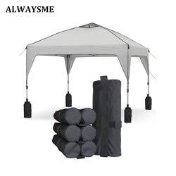 Alwaysme pesado duplo-costurado pesos saco perna para pop up dossel tenda ponderada feetbag saco de areia instantâneo ao ar livre sol abrigo