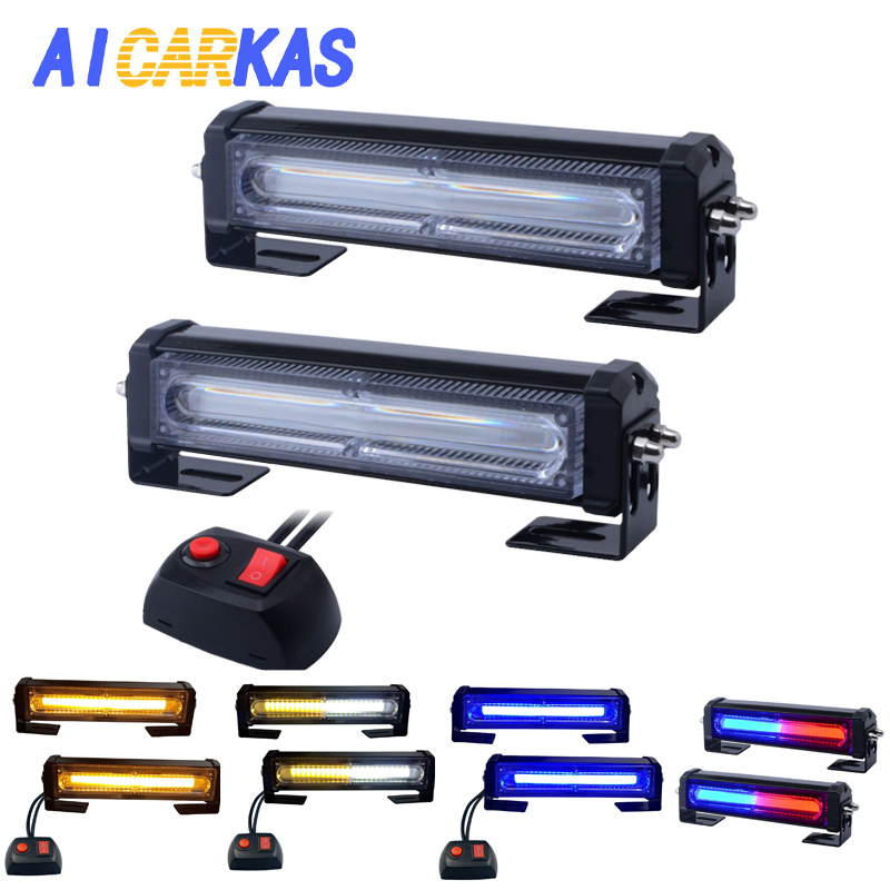 AICARKAS 9 Flash Patterns LED Emergency Flashing Strobe Lights for Cars Amber Blue LED Strobe Lights 12V 24V Safety Light BarsAICARKAS 9 Flash Patterns LED Emergency Flashing Strobe Lights for Cars Amber Blue LED Strobe Lights 12V 24V Safety Light Bars