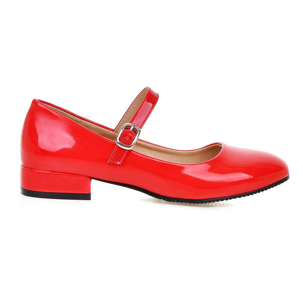 Las Bombas De 2 Mujeres Zapatos Mary Bonjomarisa rojo Tamaño plata Gran Mujer Moda Negro Otoño Janes Bajo Tacón 33 43 2019 Cm wPCdExEq