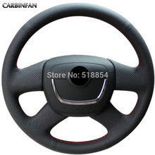 Black Artificial Leather Steering Wheel Cover for Skoda Octavia Superb 2012 Fabia Skoda Octavia a 5 a5 2012 2013 Yeti 2009-2013