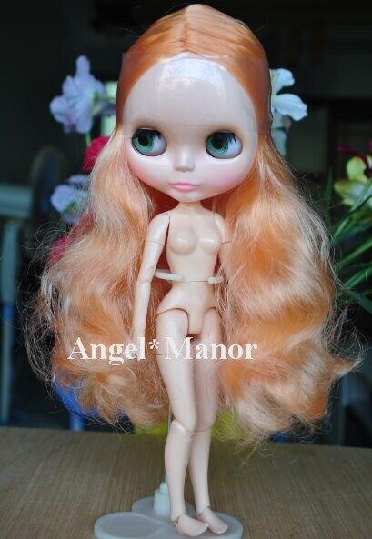 Обнаженная блит кукла с объединенная тела, Orange1 длинные волосы, Для подарка девушке, День святого валентина подарок, Рождественский подарок
