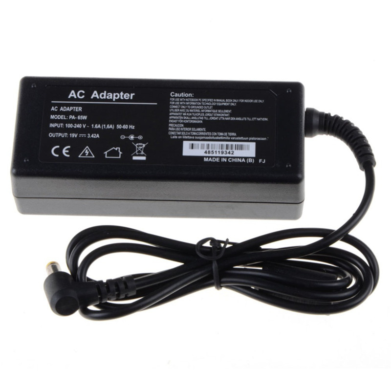 Notebook Computer Charger Replacements Laptop Adapter 19V 3.42A 65W AC Fit For Acer Power Supply Adapter Charger Replacements slim laptop charger ac power adapter for acer liteon adp 135kb t 5 5 1 7mm 135w 19v 7 1a notebook power supply