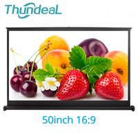 ThundeaL 50 inch 16:9 Projector Screen 3D Film Movie Video DLP Projector Portable Matte White Projection Hanging Table Screen