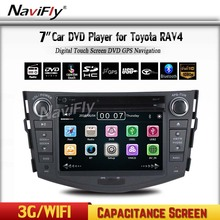 """7""""Capacitiva screen Car GPS Navigation DVD Player for RAV4 2006-2012 Support 3G Wifi  with Audio AUX Ipod BT  free shipping"""