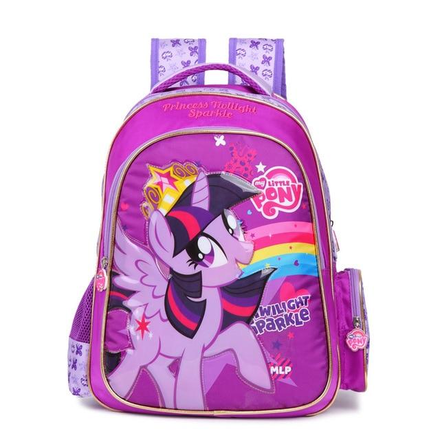 2017 Rainbow children cartoon  little pony schoolbag girl lovely backpack schoolbag For children children Christmas gift bags 22