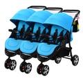 Gêmeo do bebê carrinho de criança dividir 3 trigêmeos pode sentar mentindo dobrável crianças carrinho de trigêmeos