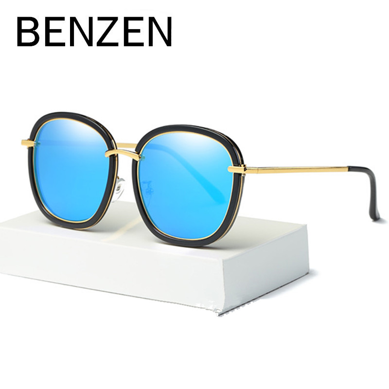 BENZEN Colorful Sunglasses Women Brand Designer Polarized Female Sun Glasses Coating Ladies Shade With Case G6319 chuangwai female sunglasses yurt polarizer female influx of 2015 women round colorful sunglasses cw10002