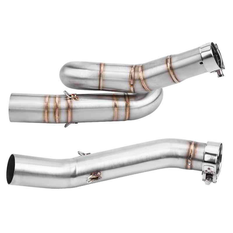 Exhaust Muffler Pipe,Keenso Motorcycle Exhaust Middle Link Pipe Slip On Exhaust Adapter Connector