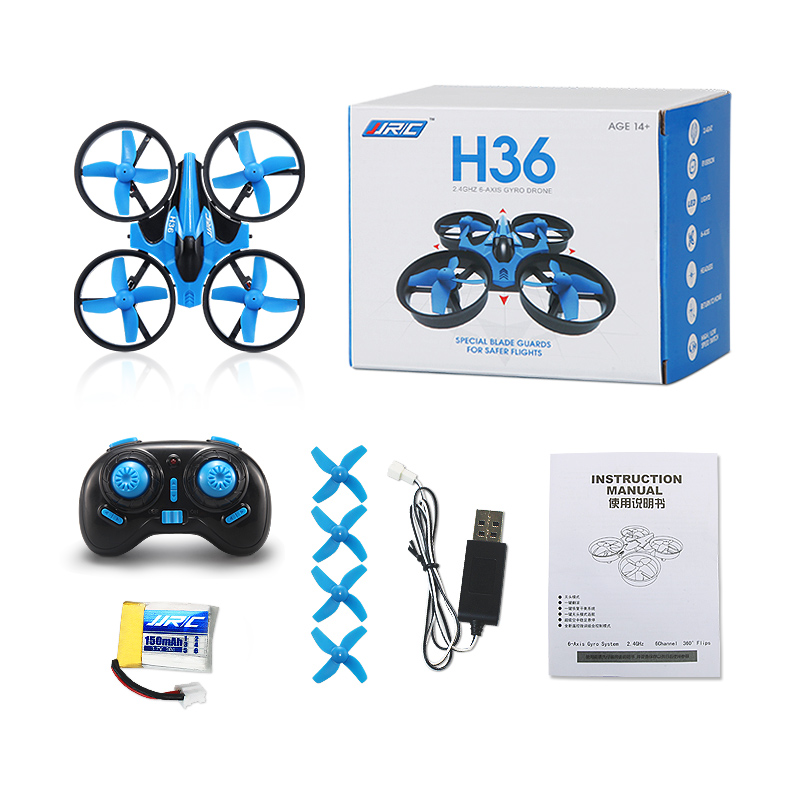 JJRC H36 Mini Quadcopter 2.4G 4CH 6 Axis Speed 3D Flip Headless Mode RC Drone Toy Gift Present RTF VS Eachine E010 H8 Mini