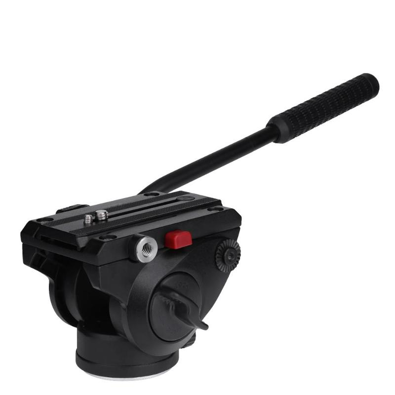 Fluid Head Rocker Arm Camera Tripod Head Quick Release Hydraulic Damping Panoramic PTZ Tripod Ball Head for Camera fluid head rocker arm camera tripod head quick release hydraulic damping panoramic ptz tripod ball head for camera