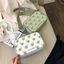 Women's Bag With Print Womens Shoulder Bag Crossbody Messenger Bags Leather Green Summer Fruit Fashion Small Colorful  Flap Cute pinapple print flap crossbody bag