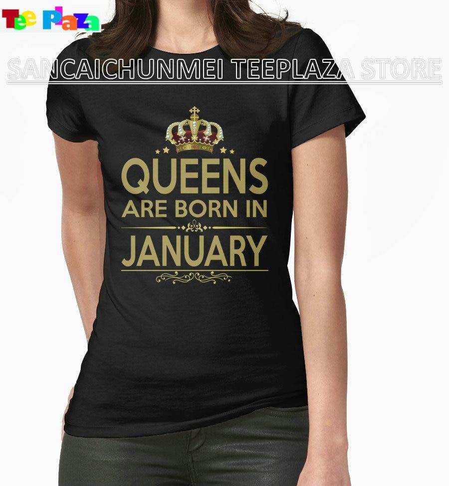 Design t shirt murah - Teeplaza Murah T Shirt Design Perempuan Ratu Yang Lahir Pada Bulan Januari T Shirts Untuk Wanita