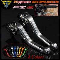 Laser Logo FZ8 8 Colors Titanium CNC 2 Finger Short Motorcycle Brake Clutch Levers For Yamaha