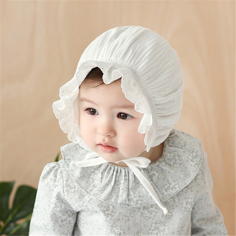 Spring Summer Baby Cap Lace Newborn Cotton Baby Girl Hat ...