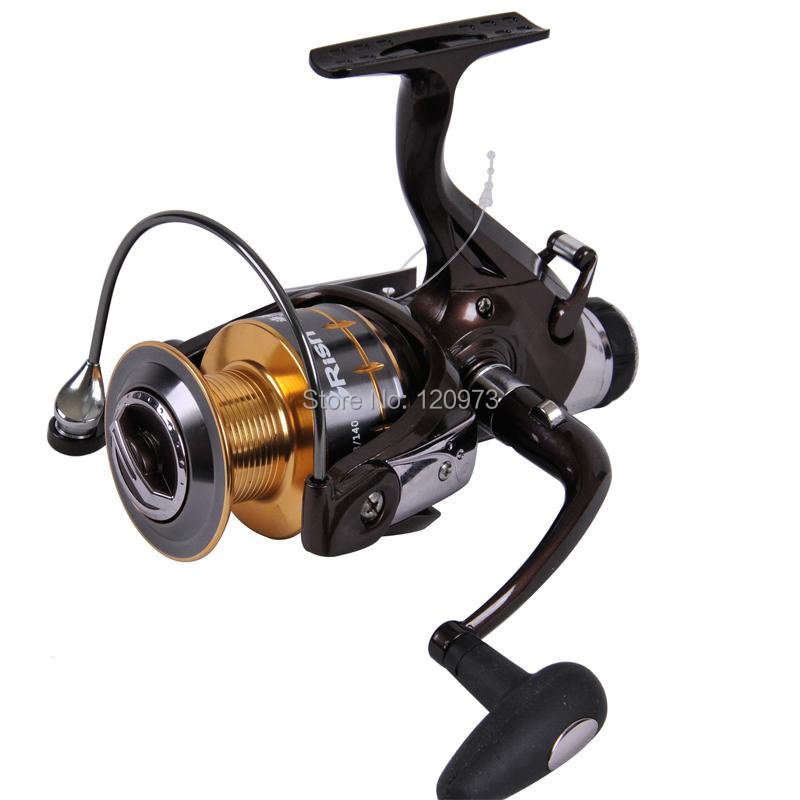 2015 New Carp Fishing Reel 5000 6000--10BB Spinning Reel Baitrunner Casting Reel Pesca Rear Drag Post-Loading Wheel  цена