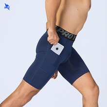 Elastico Mens di Compressione Shorts Crossfit Bodybuilding Estate Shorts Sport Quick Dry Corsa E Jogging Fitness Calzamaglie Shorts con Tasche