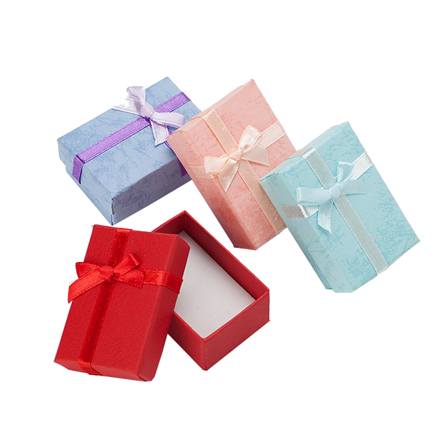 4*6*2.5cm Jewelry Box Multi Colors Earrings Necklace Rings Gift Box High Quality Paper Jewelry Packaging & Display 60pcs/lot