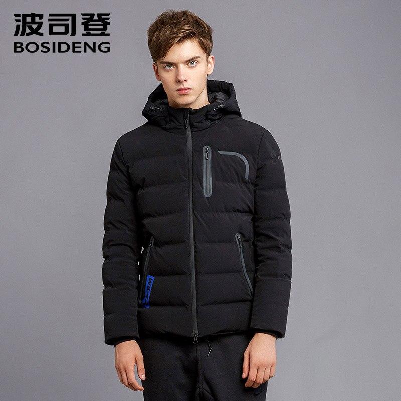 BOSIDENG 90% белая утка вниз Новый Утепленная зимняя куртка для Для мужчин модные Повседневное красивый Теплая парка пальто с капюшоном B1601145