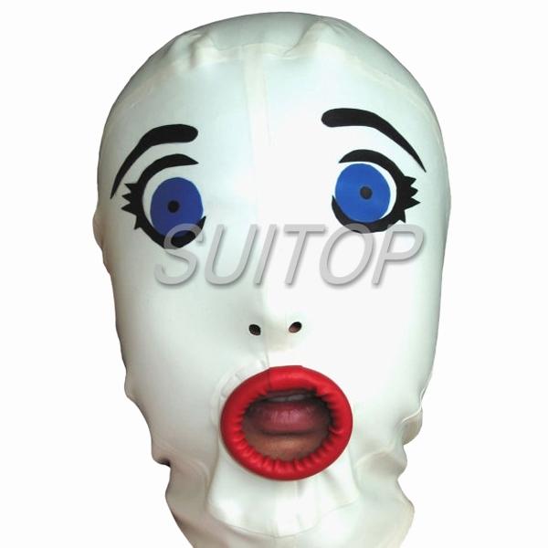 Hecho a mano máscara de látex SUITOP campana sexy para CLUB de adultos COSPLAY